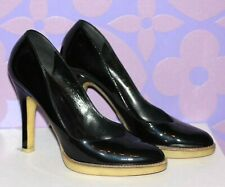 GUCCI Patent Leather Cassic Pump Heels Rubber Gum Sole Comfortable 38.5 us 7.5-8