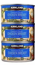 3 CANS KIRKLAND SIGNATURE PREMIUM CHUNK CHICKEN BREAST IN WATER 12.5 OZ EACH