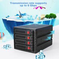 """6Gbps 4-bay 2.5""""/3.5""""SAS SATA HDD Enclosure Case Box Optical Drive Hard Disk Box"""