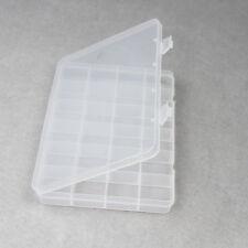 Plastic 24 Slots Compartment Storage Box Case Bead Jewelry Display Organizer DIY
