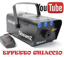 MACCHINA FUMO SMOG 700W NEBBIA LUCE A 3 LED GHIACCIO EFFETTO luci psichedeliche