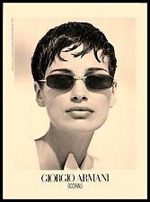 1993 Giorgio Armani Occhiali Glasses Vintage PRINT AD Fashion Eyeglasses Eyewear