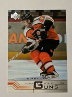 2001-02 Upper Deck Young Guns #202 Kirby Law Rookie Card Philadelphia Flyers