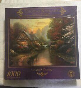 "New JIGSAW PUZZLE THOMAS KINKADE - "" A Quiet Evening"" - 1000 PIECES CEACO USA"