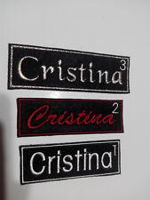Parche bordado para coser con tu nombre personalizado