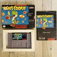 Super Nintendo Yoshis Cookie SNES Video Game CIB