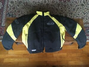 HJC Youth Medium Snowmobile Ski Jacket-Winter-Coat-Apparel-Ski ~Yellow and Black