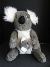 "Vtg 1987 Whatchamacallits From Down Under 17"" Koala + Baby Stuffed Animal Euc"
