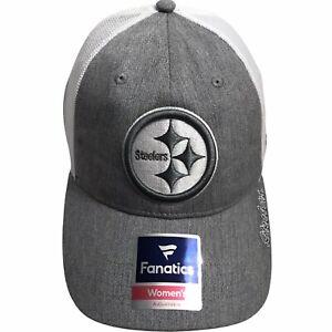 Pittsburgh Steelers NFL Women's Tonal Gray Trucker's SnapBack Cap Hat $26