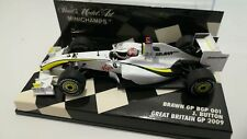 Minichamps F1 1/43 Brawn Bgp001 Button 2009 Rare Union Flag Helmet Conversion
