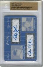 Nick Hagadone* JUSTIN MASTERSON * Autograph Rookie Auto Plate BGS 1/1