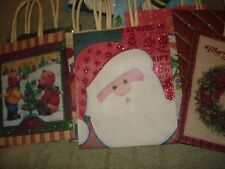 "HOLIDAY MINI GIFT BAGS  LOT OF 10  APPROX. SIZE 4 1/2"" X 5 1/2"""