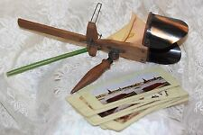 Antique Stereoscope Viewer Picture Wood & Metal & 10 Double Sided Cards