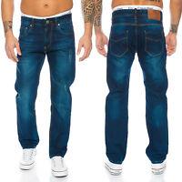 Rock Creek Pantalones Vaqueros de Hombre Corte Recto Jeans Denim Vintage Estilo