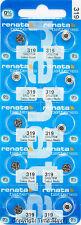 10 pcs Renata Watch Batteries 319 SR527SW SR527  0% MERCURY