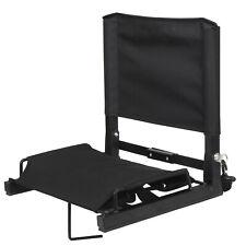 Portable Foldable Stadium Seat Gym Bleacher Chair W/ Cushion, Bottom Fixed Hook