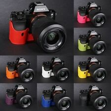 Genuine Real Leather half Camera Case bag for Sony A7 Sony A7R Sony A7S 10 color