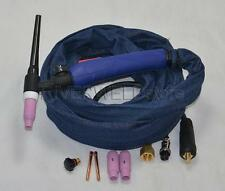 WP-17V 12-Foot  4 Meter 150A Tig Torch Complete With Gas Valve Head, Euro Style