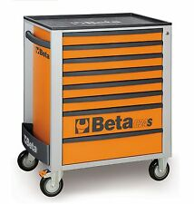 Beta C24S/8 8 Drawer Mobile Roller Cabinet Orange