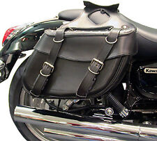 Motorcycle Custom Cruiser Panniers Faux Leather Saddlebags Universal Style Pair