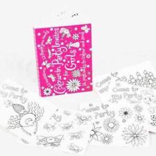 Eggnogg para colorear 12 fiesta invitaciones 12 gracias postales Niña Cumpleaños