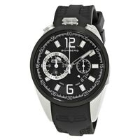 New Mens Bomberg NS44CHTT.0079.2 Swiss Made Chrono Black Rubber Strap Watch