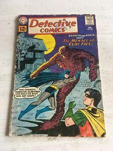 DETECTIVE COMICS #298 1961 DC 1ST SILVER AGE APP OF CLAYFACE SCARCE GD/VG copy2