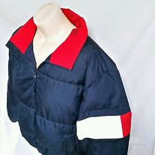 VTG Tommy Hilfiger Bubble Goose Coat Jacket 90's Flag Puffer Down Colorblock XXL