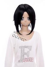 W-72 Hakuoki Toshizo Hijikata negro corto cosplay peluca Wig perruque anime