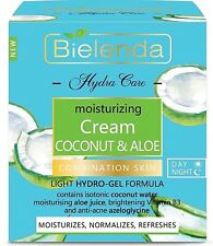 Bielenda Hydra Care Coconut & Aloe Moisturising Face Cream Combination Skin 50ml
