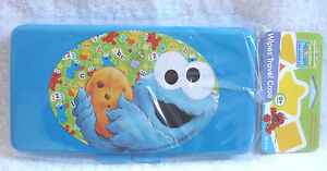 Sesame Street Beginnings BABY Cookie Monster Flat Carry Case for wipes travel