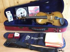1/2 STENTOR STUDENT II VIOLIN,CASE & BOW EXCELLENT  CONDITION WITH FREE SPARES