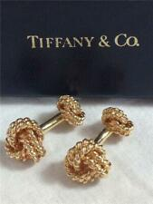 Vintage Tiffany & Co. 14K Yellow Gold Heavy Double Knot Cufflinks 14.6 Grams