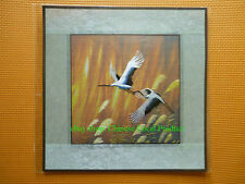 Chinese Su Xiu Silk Embroidery Handmade ---- Brocade Mounted The Cranes B26