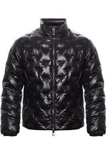 NWT Emporio Armani quilted down jacket Feather Down 100% BLACK EU L LUXURY