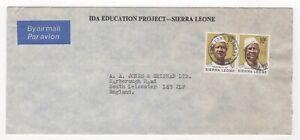 1973 SIERRA LEONE Air Mail Cover FREETOWN to LEICESTER SG581 President Stevens