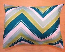 "Green White Travel Pillow Cover Case 15"" X 20""  Pillow Zipper Pillowcase New #i"