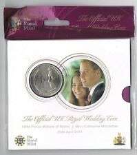 Prince William and Kate UK Royal Wedding BU £5 2011 Royal Mint Coin Sealed Pack
