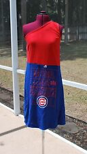 Chicago Cubs One Shoulder Dress Upcycled T-Shirts Medium
