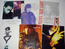 TERENCE TRENT D'ARBY magazine ad LOT of 6 rare 1987 to 1989