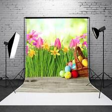 3x5FT Vinyl Grass Backdrop Easter Eggs Photography Background For Studio Props