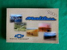 2000 00 Chevrolet Malibu Owners Manual   H22