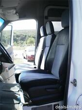 TAILORED GREY-BLACK FABRIC SEAT COVERS FOR MERCEDES SPRINTER W906 2006-2013 RHD