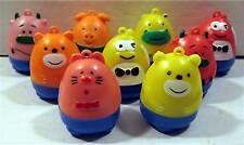 6 Roly Poly Animal Bank Necklace Vending Machine Toys