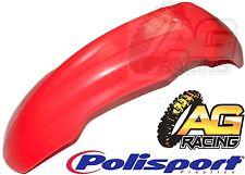 Polisport Rojo De Plástico Guardabarros Delantero Frontal Mud Guard Para Honda Crf 250r de la CE 2004-2009