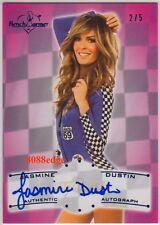 2011 BENCHWARMER RACER GIRL AUTO: JASMINE DUSTIN #2/5 AUTOGRAPH - MAXIM/FHM/GQ