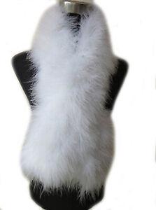 Real Ostrich Feather Fur Scarf For Women Winter Warm Neckerchief Fluffy Soft