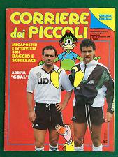 CORRIERE DEI PICCOLI n.37/1990 , ROBERTO BAGGIO TOTO' SCHILLACI