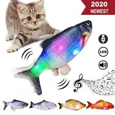Led Electric Fish Toy For Cat Pet Realistic Plush Simulation Moving Flopping Toy