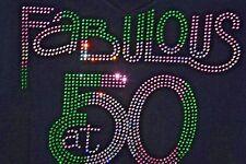 Fabulous at 50 birthday shirt XS S M L XL XXL 1X 2X 3X 4X 5X AKA green pink